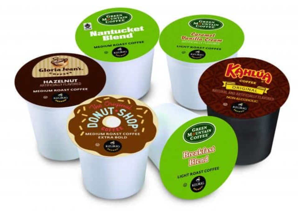 A variety of colorful K-Cups