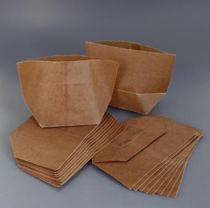 Wax bags on dark grey background