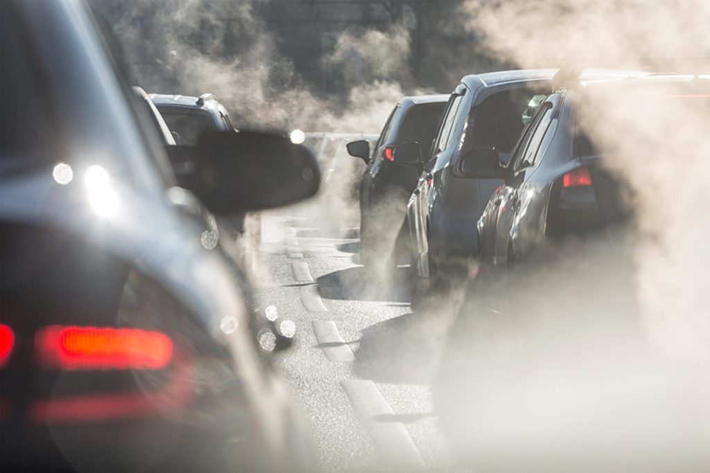 Emissions from cars during commute