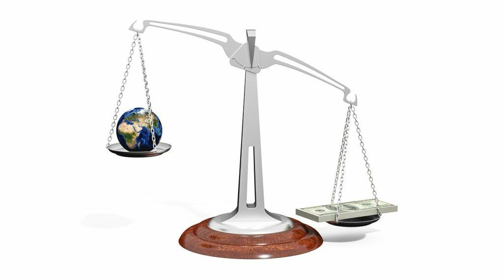 Scale with Earth and money