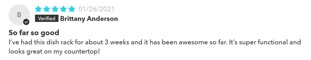 Dorai Dish Rack Review #3