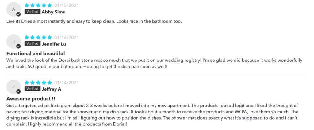 Positive Dorai Bath Stone Reviews