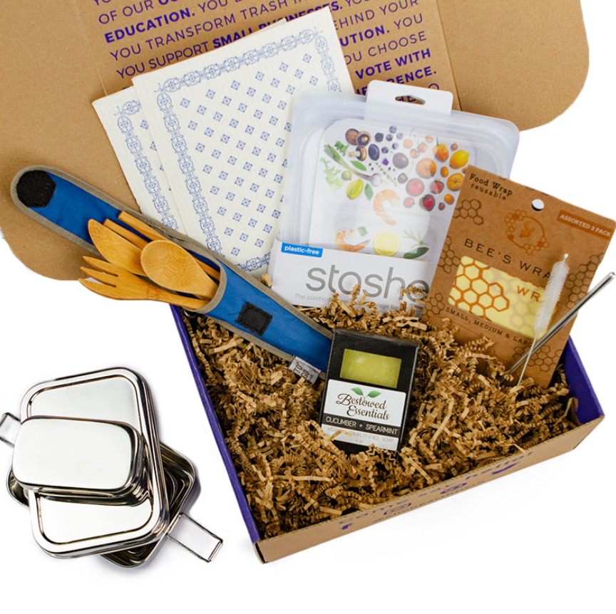 Top-down view of Eco Living Gift Box from Earth Hero.