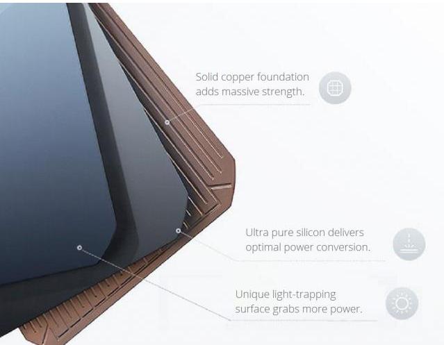 The layers of each SunPower Maxeon solar panel